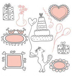 holidays doodles vector image