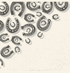 Horseshoes light background vector