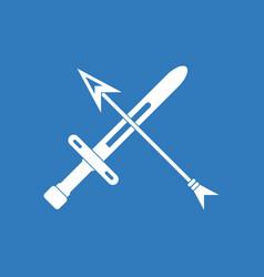 Icon sword and arrow vector