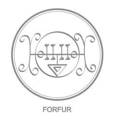 Icon with symbol demon forfur vector