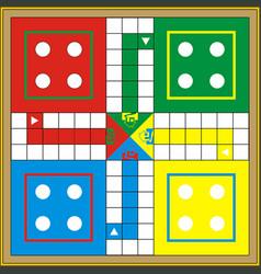 Indoor board game - ludo vector