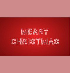 Inscription of merry christmas with neon lamps vector