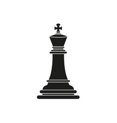 king of chess icon black toy success vector image