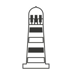 Light house maritime isolated icon vector
