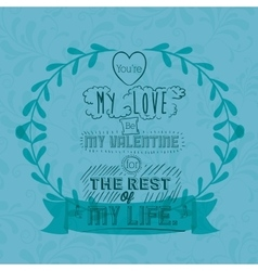 love message design vector image