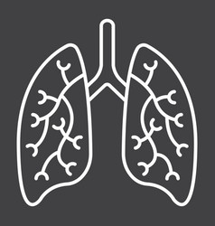 lungs line icon medicine and healthcare vector image