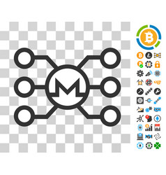 monero masternode links icon with bonus vector image