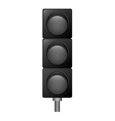 Off traffic lights icon realistic style vector