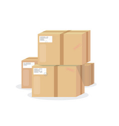 Pile boxes vector