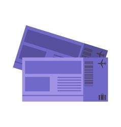 Plane tickets vector