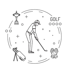 Playing game golf vector image
