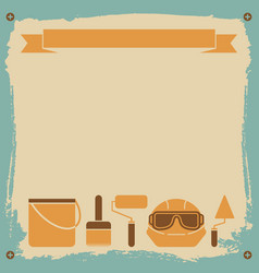 Redecorating worker background vector
