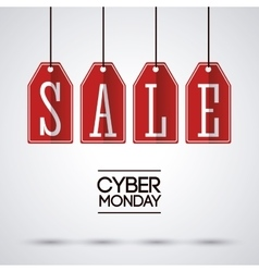 Sale labels and cyber monday design vector