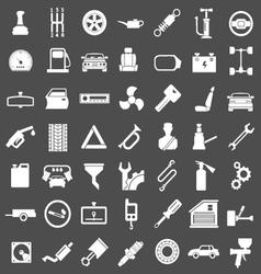 Set icons of auto car parts repair and service vector