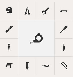 set of 13 editable tools icons includes symbols vector image