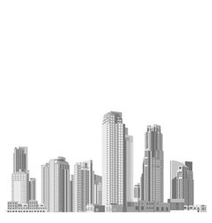 Set of skyscrapers with diverse architecture vector image