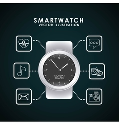 Smartwatch technology design vector