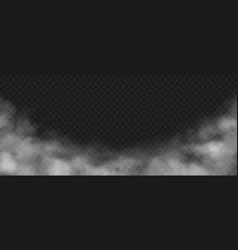 smoke background realistic decorative fog effect vector image