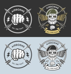Spesial force emblems vector image