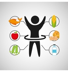 Sport man artistic gymnatics nutrition health vector