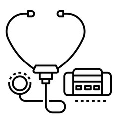 Stethoscope icon outline style vector