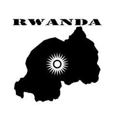 symbol of isle of rwanda and map vector image