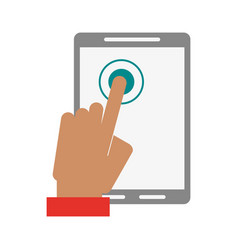 tablet finger tap icon image vector image