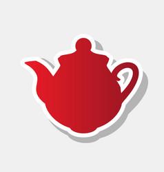 tea maker kitchen sign new year reddish vector image vector image