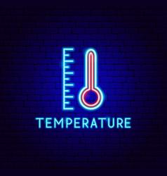 temperature neon label vector image