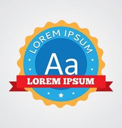 Typography vintage badge label icon vector