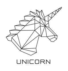 unicorns head polygonal geometric vector image