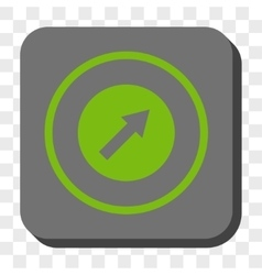 Up-Right Rounded Arrow Rounded Square Button vector