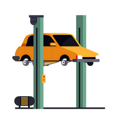 vehicle lift car repair service isolated icon vector image