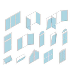 Windows types sign 3d icon set isometric view vector