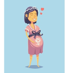 Young pregnant woman vector