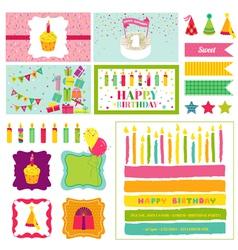 Birthday Party Invitation Set - for Birthday Baby vector image
