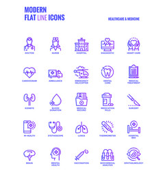 flat line gradient icons design-healthcare and vector image vector image