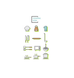 set of cooking vector image vector image