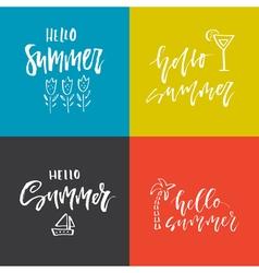 Summer Lettering Design vector image vector image