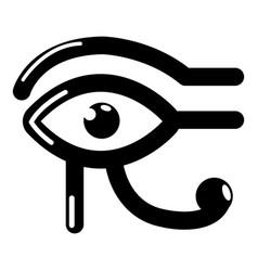 eye horus icon simple black style vector image vector image