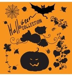 Set of fairy black halloween icons vector image
