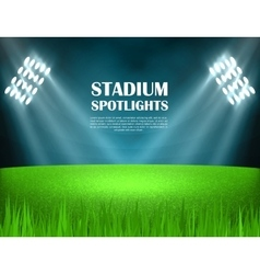 Stadium spotlights concept vector image