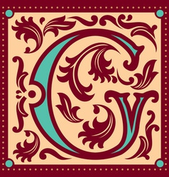 vintage letter G vector image vector image