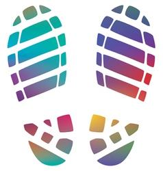 bootprints vector image