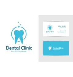 Dental clinic logo with tooth vector image