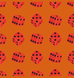 isometric dice number lucky game fortune casino vector image vector image
