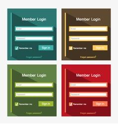 login forms vector image vector image