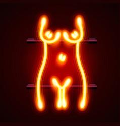 Neon sign striptease striptease bar alcohol vector
