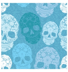Skull Pattern Classic vector image vector image