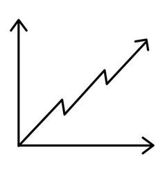 business diagram growth arrow profit finance vector image